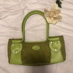 Tod's green suede handbag